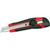 Metraje 7812 Cutter ergonomico bloqueo con ruedecilla y cuchilla de 18 mm con guia metalica