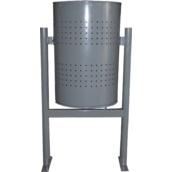 Protectores de mobiliario urbano 691 Papelera circular de capacidad 60 litros