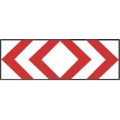 Paneles direccionales TB 660/TB-4 Panel direccional doble estrecho 165x45cm