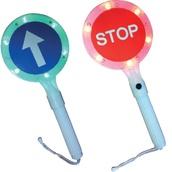 Balizamiento manual, paletas, bastón luminoso y banderas de señalización 3210Led Paleta señalización Pase-Stop LED