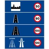 Otras señales de indicación S-940 Limitaciones de velocidad en España