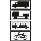 Paneles complementarios S-880 Aplicación de señalización a determinados vehículos