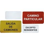 Señales de tráfico Económicas Ø50cm y L70cm  Placas complementarias ECO con texto personalizable
