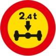 TR-202 Limitación de masa por eje