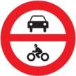 R-102 Entrada prohibida a vehículos de moto