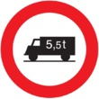 R-107 Entrada prohibida a vehículos destinados al  transporte de mercancías con mayor peso autorizado que el indicado