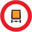 R-108 Entrada prohibida a vehículos que transporten  mercancías peligrosas