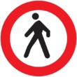 R-116 Entrada prohibida a peatones