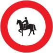 R-117 Entrada prohibida a animales de montura