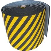 Esquineras y cantoneras de caucho  Bobina ignífuga protección de paredes amarilla/negra con espesores 10 o 20 mm