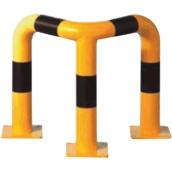 Protectores anticolisión de acero para interiores  Barandilla protección angular 90º para interior de recintos
