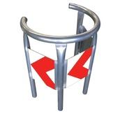 Protectores de mobiliario urbano 680 Protector circular para farola y postes R/B