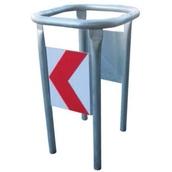 Protectores de mobiliario urbano 680D Protector circular desmontable para farola y postes R/B