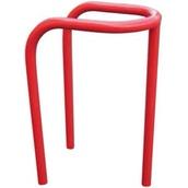Protectores de mobiliario urbano 680R Estribo protector rojo para farola y postes