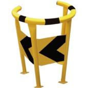 Protectores anticolisión de acero para interiores PR-21 Protector circular para farola y postes, lacado amarillo