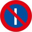 R-308a Estacionamiento prohibido los días impares