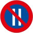 R-308b Estacionamiento prohibido los días pares