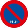 R-308d Estacionamiento prohibido la segunda quincena