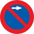 R-308f Estacionamiento prohibido a la derecha