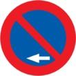 R-308g Estacionamiento prohibido a la izquierda