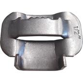 Soportes, abrazaderas y desplazadores para señales 433203 Caja grapas fleje 100und. NM-D13