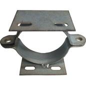 Soportes, abrazaderas y desplazadores para señales A106D Abrazadera doble de acero para poste circular de Ø60 mm