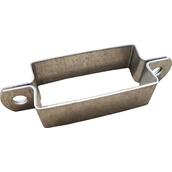 Soportes, abrazaderas y desplazadores para señales  Abrazadera rectangular galvanizada para postes rectangulares