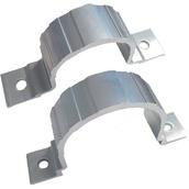 Soportes, abrazaderas y desplazadores para señales  Abrazadera simple de aluminio para poste de Ø60 y Ø76mm