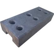 Trípodes y soportes para señales provisionales 8020JG-valla Base caucho para valla de obra 16 kg  Ø40 mm