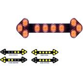 Señales luminosas LED para vehículos  Orientador de tráfico 10 focos Led