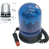 Rotativos luminosos para vehículos  Rotativo halógeno azul 12/24V con base magnética y ventosa