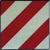 Placas indicadoras y de transporte 590A-V20121 V20 Placa señalización para vehículo con carga sobresaliente