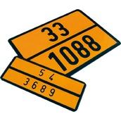 Placas indicadoras y de transporte  V11 Placa naranja señalización de vehículos de transporte de mercancías peligrosas