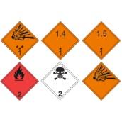 Señales de transporte de mercancías peligrosas